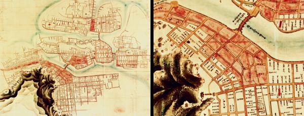 御山下絵図(徳島城下絵図)元禄4年(1691)